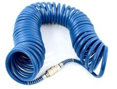 Шланг спиральный синий с быстросъмными соед. профи 10 м 8*12мм