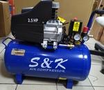 Компрессор S&K  T280/60/1,8кВт/8 атм/прямая пер.